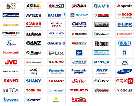 Choose from over 2,600 IP cameras