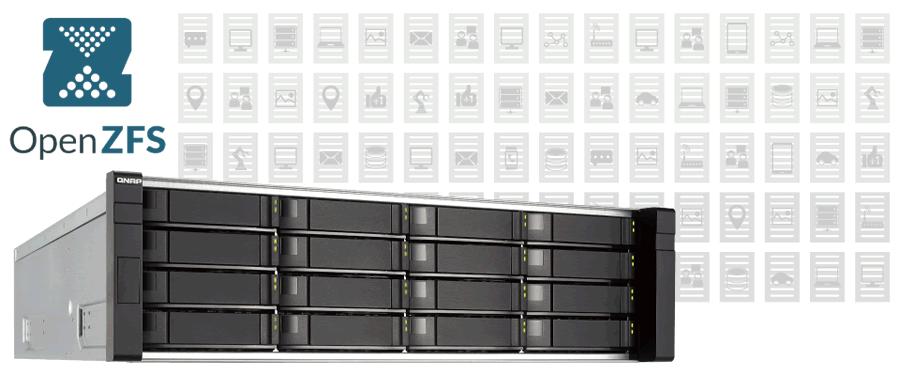 Qnap es1640dc for Zfs pool design