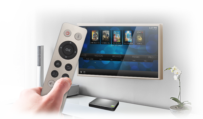 Enjoy best audiovisual experience on TV via HDMI with free remote control