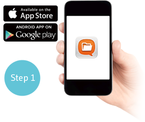 Step 1: Install Qfile from App Store or Google Play