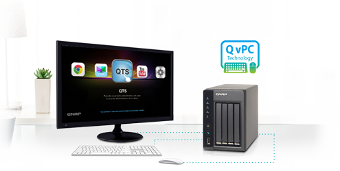 Use your TS-453S Pro as a PC with the exclusive QvPC Technology