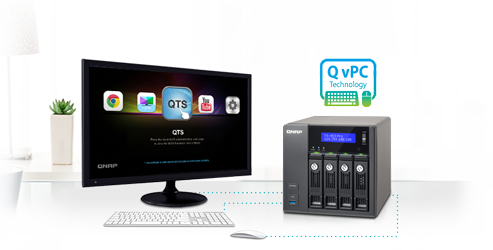 Use your TS-1253U as a PC with the exclusive QvPC Technology