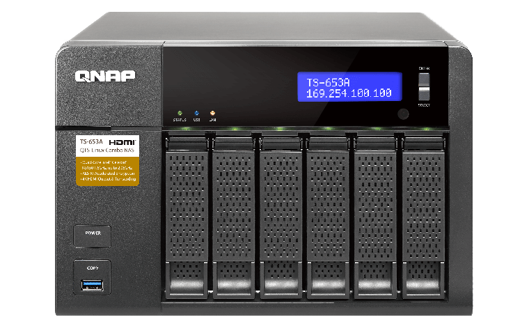 QNAP TS-653A 6-Bay QTS-Linux Combo NAS with 4GB (2 x 2GB) RAM