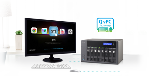 Use your TS-853U as a PC with the exclusive QvPC Technology