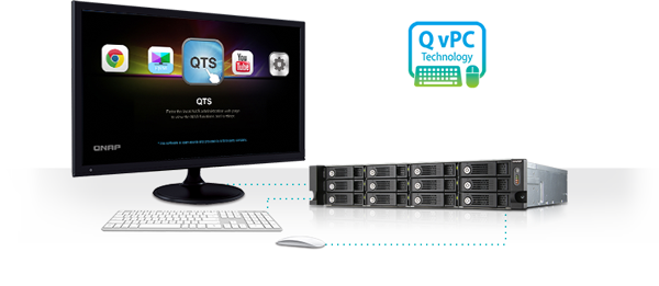Use your TVS-1271U-RP with exclusive QvPC Technology