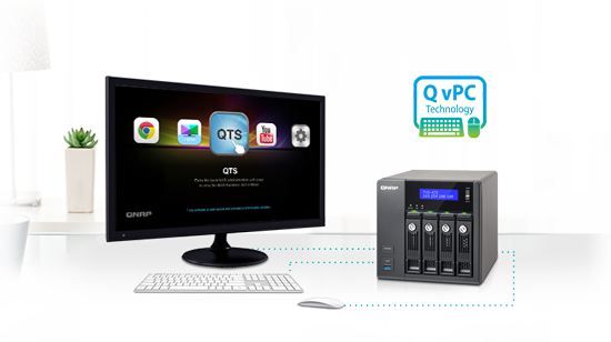 Use your TVS-471U-RP as a PC with exclusive QvPC Technology