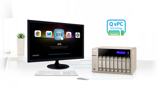 Use your TVS-863+ as a PC with the exclusive QvPC Technology