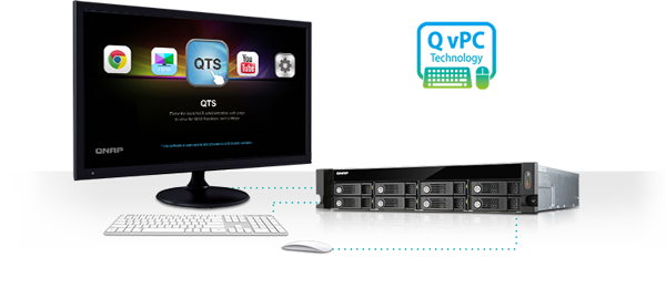 Use your TVS-871U-RP with exclusive QvPC Technology