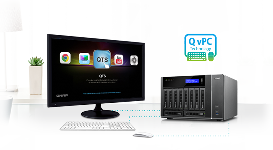 Use your TVS-EC880 as a PC with exclusive QvPC Technology