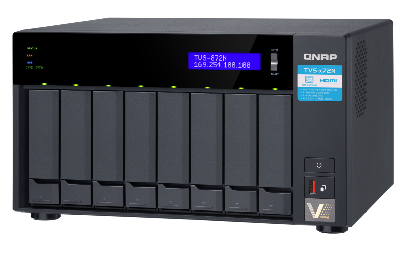 QNAP TVS-872N Top-Right