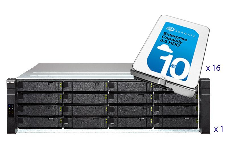 QNAP ES1640dc-v2-E5-96G-US 160TB Bundle   QNAPWorks com